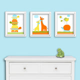 cute baby boy animal wall art