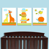 colorful baby boy nursery canvas