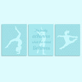 turquoise gymnastics canvas decor