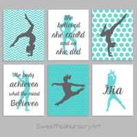 teen girl bedroom gymnastics wall decor