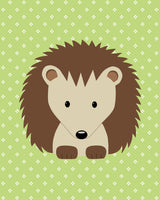 hedgehog nursery wall art