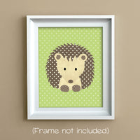 hedgehog nursery art print