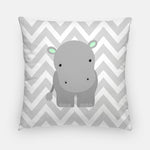Hippo Nursery Pillow | Zoo Nursery Decor | Throw Pillow | Pillow Case | Jungle Nursery Pillow