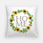Farmhouse HOME pillow with sunflowers