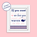 Printable If you want to know nautical pink and navy nursery decor