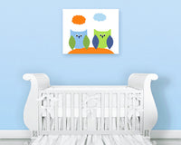 Owl Nursery Art, Woodland Nursery Art, Woodland Boy's Room, Forest Themed Nursery, boy's Room Decor, Toddler Girl Bedroom, Owl Wall Decor