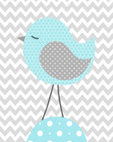 Aqua and Grey Bird Nursery Decor, Baby Girl Decor, Bird Canvas Decor, Baby Girl Bird Decor, Bird Baby Decor, Bird Nursery Pictures, Love