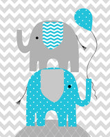 Nursery Art, Baby Girl Decor, Grey and Turquoise, Elephant Nursery Art, For This Child We Prayed, Love, Chevron, Before You Were Born