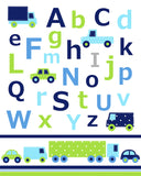 Cars Nursery Art, Alphabet Print, Numbers Nursery Art, Boy's Room Prints, Kid's Room Decor, Letters, ABC's Decor, Day Care Decor, Baby Boy