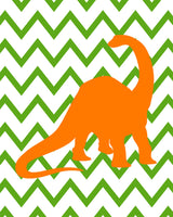 Dinosaur Nursery Art, Boy's Room Decor, Dinosaur Boy Decor, Baby Shower Gift, Dinosaur Pictures, Set of Four Prints, Dinosaur Quad, Canvas