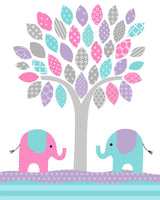 baby girl elephant nursery decor