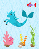 Hippocampus kids art print