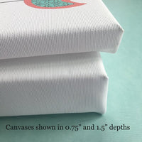 canvas print depths in 0.75 and 1.5 inches thick.