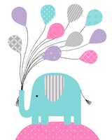 elephant print for baby girl nursery