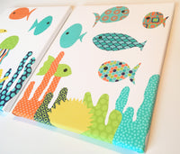 Fish canvas decor