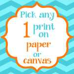Choose Any 1 Print on Paper or Canvas - Choose the size - Choose your color