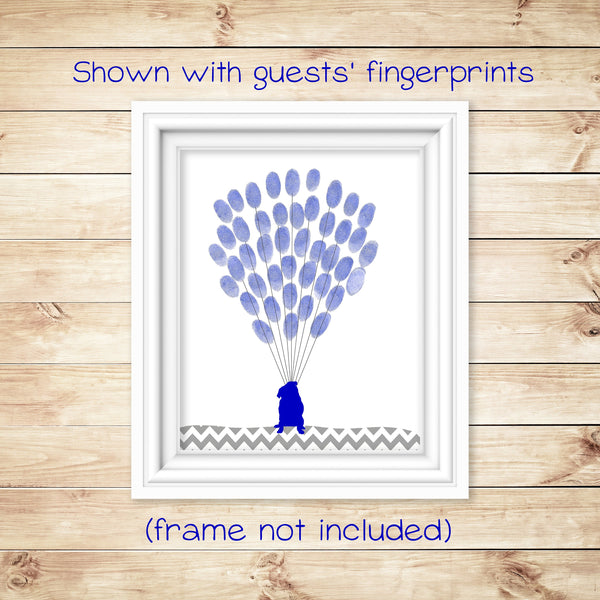 Puppy Baby Shower Alternative Guest Book, Pug Nursery Decor, Thumbprint Guest Book, Gender Reveal Party, Kids Birthday Party, Teacher Gift
