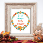 Thanksgiving wall art