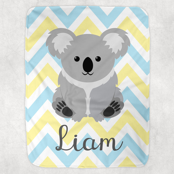 Personalized Baby Blanket | Koala Blanket | Minky Blanket | Lovey | Burp Cloth | Swaddle