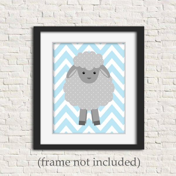 baby boy lamb nursery art