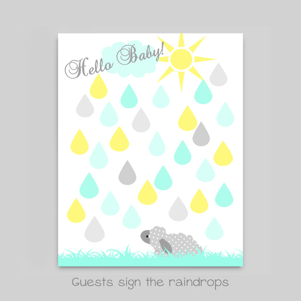 lamb baby shower guest book