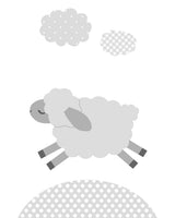 grey lamb prints