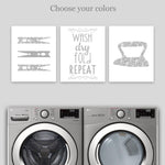 grey laundry room canvas prints