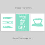 Farmhouse Laundry Room Decor | Mint Laundry Room Prints | Laundry Rules Sign | Wash Dry Fold