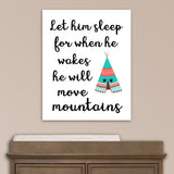 tribal nursery print with teepee