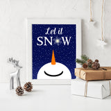 snowman christmas wall art