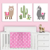 llama nursery canvas decor