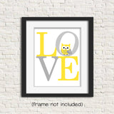 love print with owl