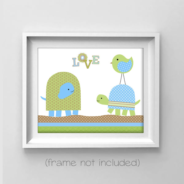 turtle nursery art