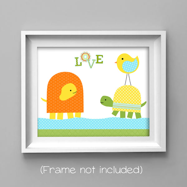 turtle print for baby room