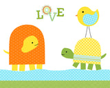 love with turtles nursery art print