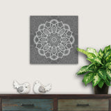 gray mandala canvas art