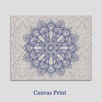 mandala canvas art print