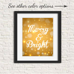 gold christmas wall art