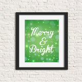 green christmas wall art