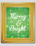 green merry and bright christmas wall art