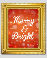 red christmas merry and bright print