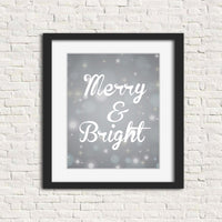 silver christmas wall art