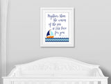 mightier than the waves nursery print