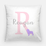 Monogram Puppy Nursery Pillow | Monogram Throw Pillow | Puppy Nursery Accessory | Baby Girl Pillow