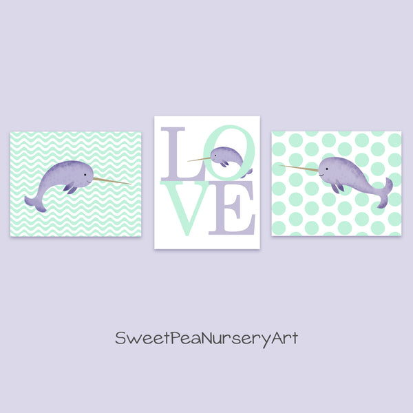 narwhal nursery prints