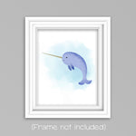 watercolor narwhal picture