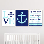 aqua and navy nautical nursery