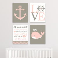 nautical canvas baby decor