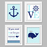 blue and navy nautical nursery pictures