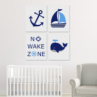 nautical set of 4 nursery prints